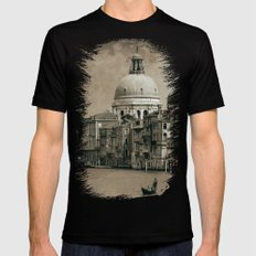 One day in Venice II SMALL Mens Fitted Tee Black