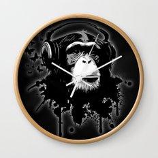 Monkey Business - Black Wall Clock