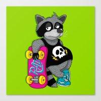Really Radical Raccoon Canvas Print