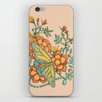 Butterflies Over Garden … iPhone & iPod Skin