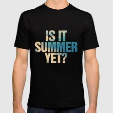 Is it Summer yet? Black SMALL Mens Fitted Tee