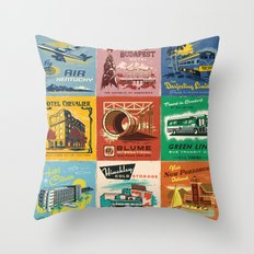 WES ANDERSON MATCHBOOK SERIES Throw Pillow