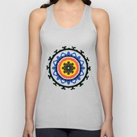 Bold and bright beauty of suzani patterns ver.9 Unisex Tank Top