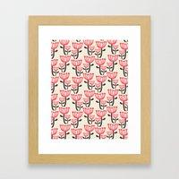 Daphne Floral Framed Art Print