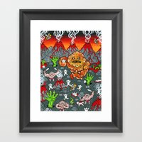 Volcano Lands Framed Art Print