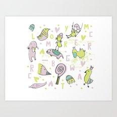 bichos Art Print
