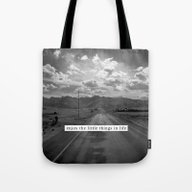 Tote Bag featuring Enjoy The Little Things … by Julia Aufschnaiter