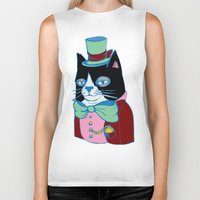 Dignified Cat Does Pastels Biker Tank