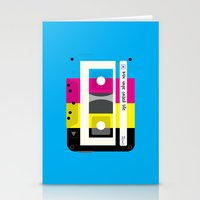 CMYK Mix tape called life Stationery Cards