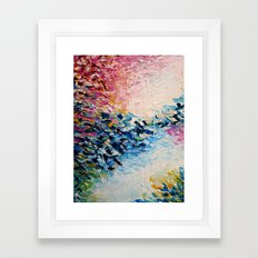 PARADISE DREAMING Colorful Pastel Abstract Art Painting Textural Pink Blue Tropical Brushstrokes Framed Art Print