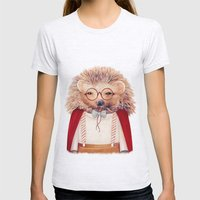 Hedgehog Womens Fitted Tee Ash Grey SMALL