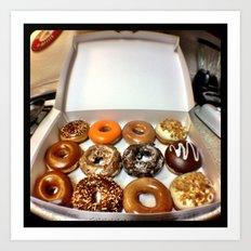 Krispy Kreme. Art Print