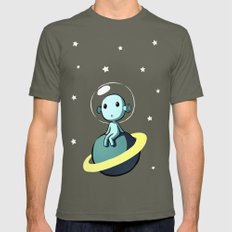 Space Alien Mens Fitted Tee Lieutenant SMALL