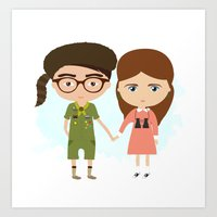 moonrise kingdom Art Prints featuring Moonrise Kingdom by Creo tu mundo