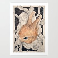 baby Art Prints featuring baby  by margaw