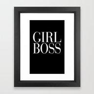 Girl Boss Black Vogue Ty… Framed Art Print