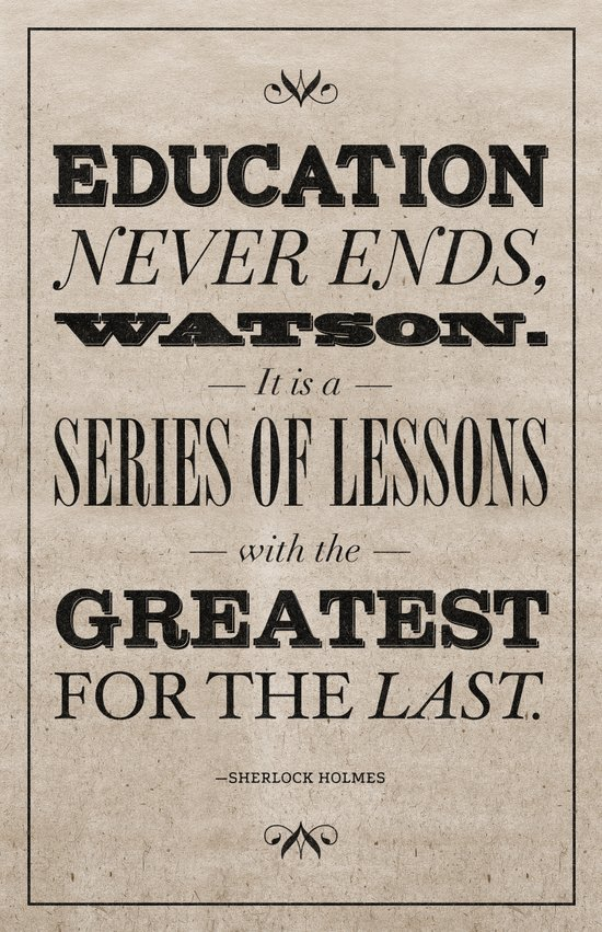 Education Never Ends Art Print