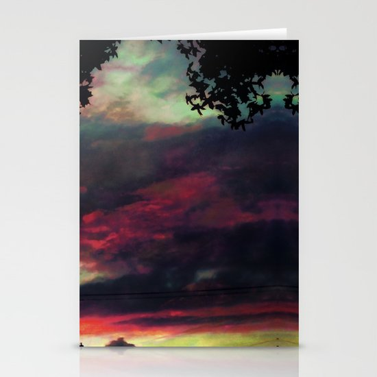 Thick as the Day's End Stationery Card