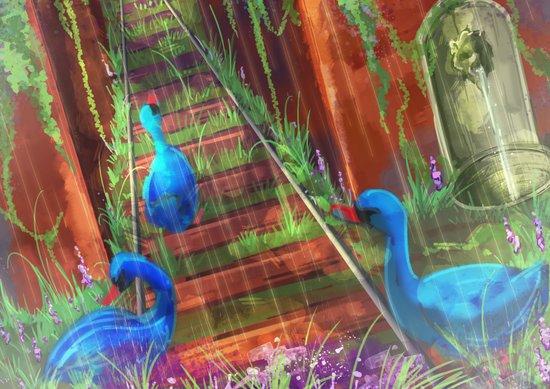 The Blue Swan Art Print
