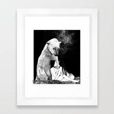 asc 257 - Le grand frère (The elder brother) - Night version Framed Art Print