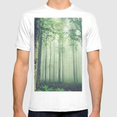 Foggy Woods SMALL Mens Fitted Tee White