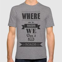 Back To The Future Mens Fitted Tee Tri-Grey SMALL