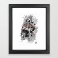 Howl at the Moon Framed Art Print