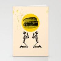 Hamburger Pray Stationery Cards