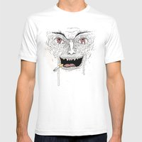 Psycho Mens Fitted Tee White SMALL