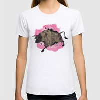 Bull Womens Fitted Tee Ash Grey SMALL