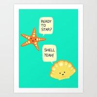 Motivational Beach! Art Print