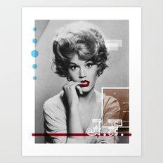 J.F. Collage Art Print