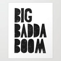 Big badda boom movie poster quote from The Fifth Element - by Genu Art Print