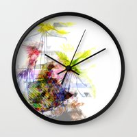 Flying Home (Glitch Remi… Wall Clock