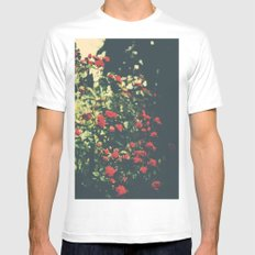 Summer Roses Series  - I -   Mens Fitted Tee SMALL White