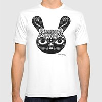 Day Of The Dead Bunny Mens Fitted Tee White SMALL
