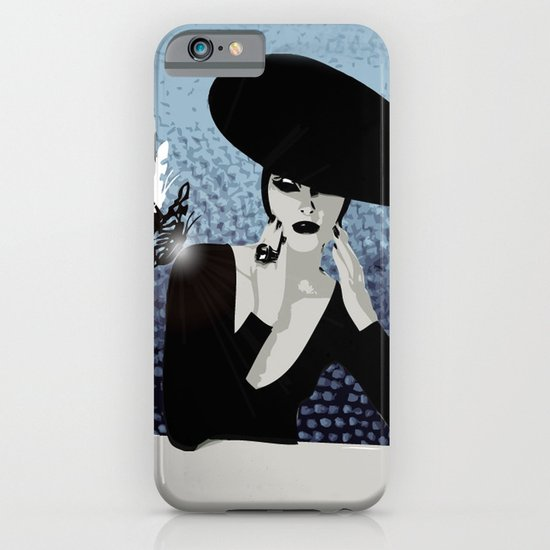 butterfly and woman iPhone & iPod Case