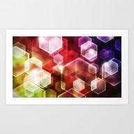 Hexagon Light Art Print