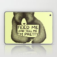 Feed Me And Tell Me I'm Pretty (Yellow) Laptop & iPad Skin