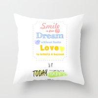 {ENG} SMILE · DREAM · … Throw Pillow