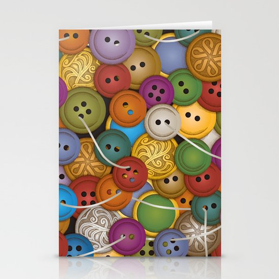 Buttons Stationery Card