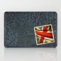 Sticker with UK flag iPad Case