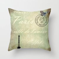 J'aime la France Throw Pillow