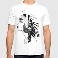Queen of The Nile. SMALL White Mens Fitted Tee