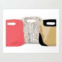 #theFIserie: bags Art Print