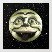 Rad Moon Rising Canvas Print