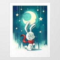 Moon Bunny 2 Art Print