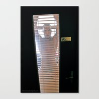 Behind the window Canvas Print