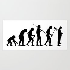 Evolution to Mobile  Art Print