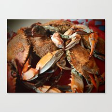 Maryland Crabs Canvas Print